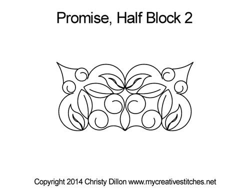 Promise half block 2 quilt pattern