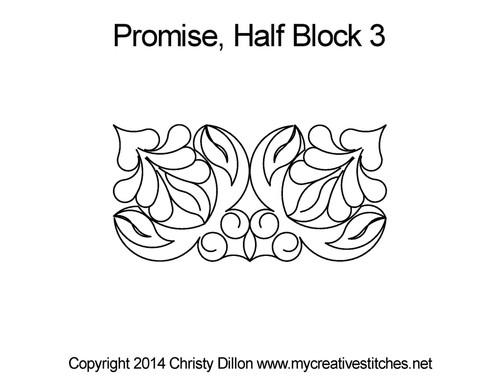 Promise 3 half triangle quilt blocks