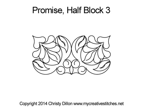Promise 3 half triangle quilt blocks