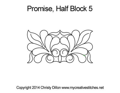 Promise digitized half block 5 quilt pattern