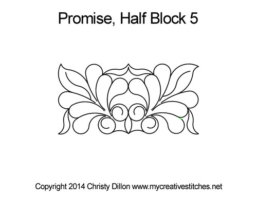 Promise digitized half block 5 quilt pattern