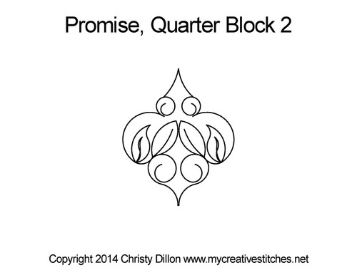 Promise quarter block 2 quilt design