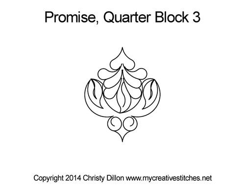 Promise 3 Quarter Block quilt design