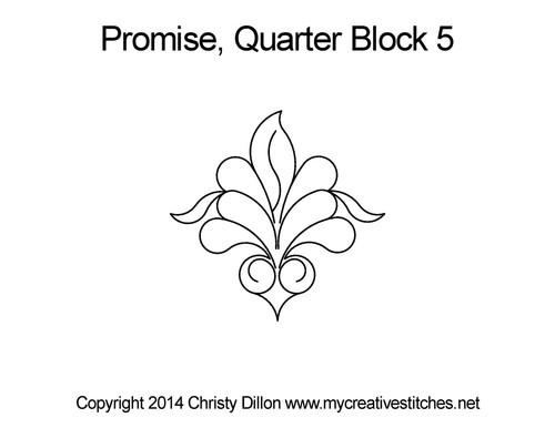 Promise quarter block 5 quilt design