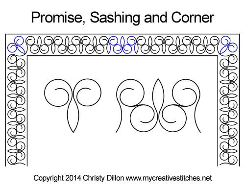 Promise sashing & corner quilt design