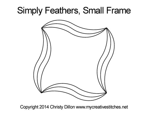 Simply feathers digital small frame quilting
