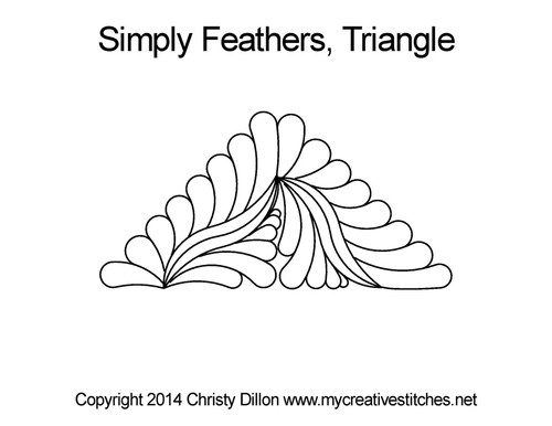 Simply feathers triangle quilting pattern