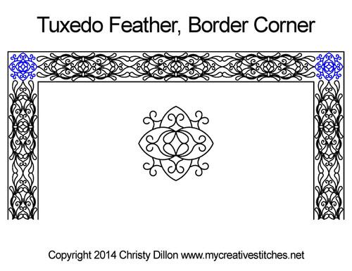 Tuxedo feather border corner quilting ideas