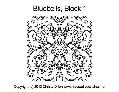 Bluebells block quilt pattern