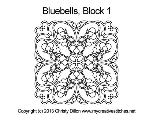 Bluebells block quilt pattern