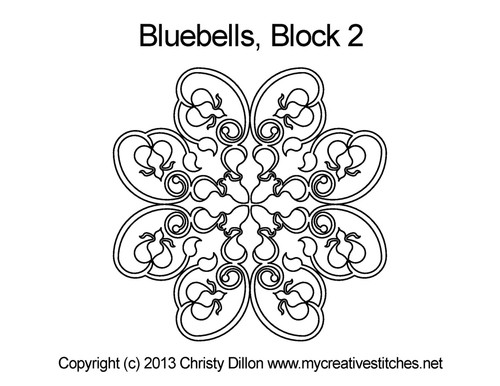 Bluebells block 2 quilt pattern