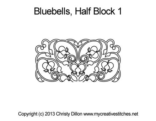 Bluebells half block 1 quilt pattern