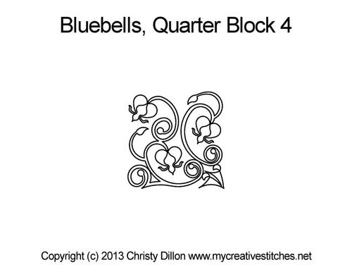 Bluebells quarter block 4 quilt pattern