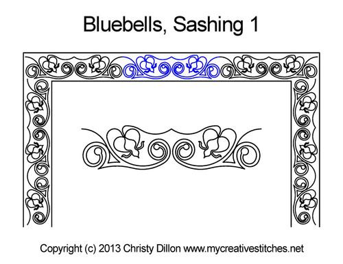 Bluebells sashing 1 quilt design