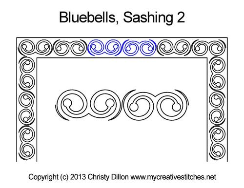 Bluebells sashing 2 quilt pattern