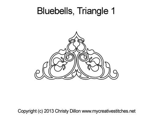 Bluebells triangle 1 quilt design