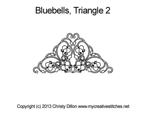 Bluebells triangle 2 quilt design