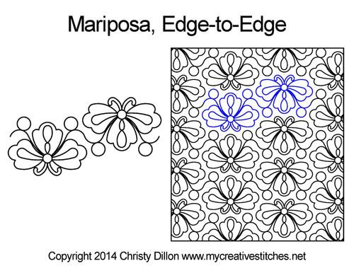 Mariposa edge-to-edge quilt designs