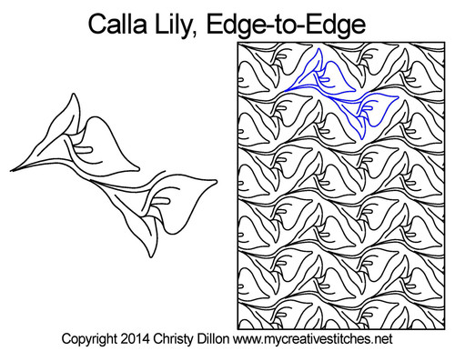 Calla lily edge to edge quilt patterns