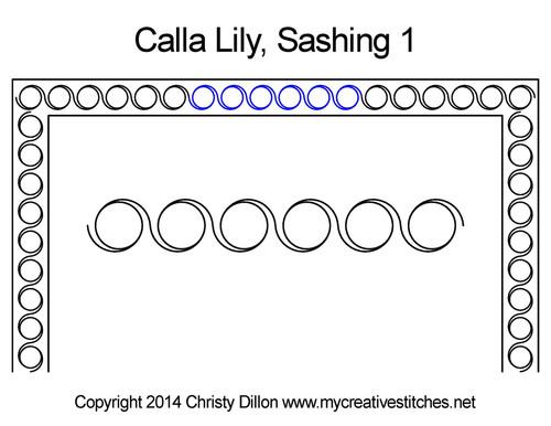 Calla lily Round quilt Sashing design