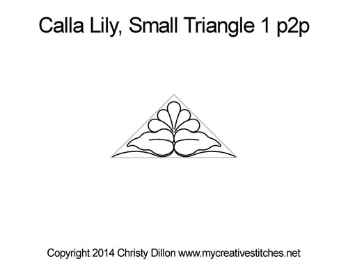 Calla lily small triangle p2p quilt pattern