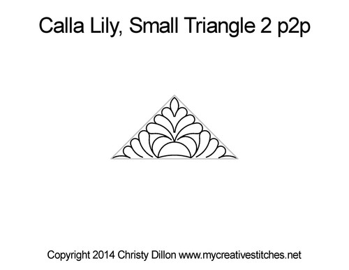 Calla lily small triangle 2 quilting pattern