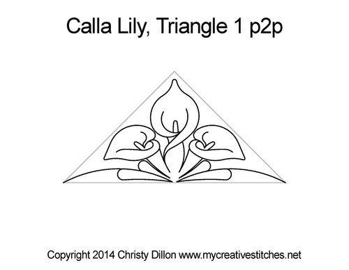 Calla lily triangle quilt pattern