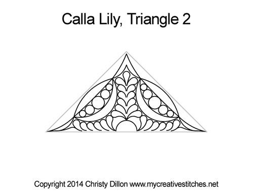 Calla lily triangle 2 quilt design