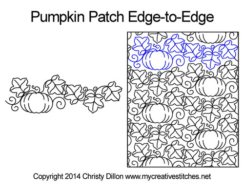 Pumpkin patch edge to edge digital quilting patterns
