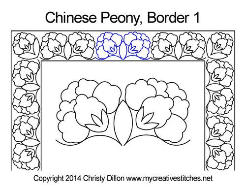 Chinese Peony Border 1