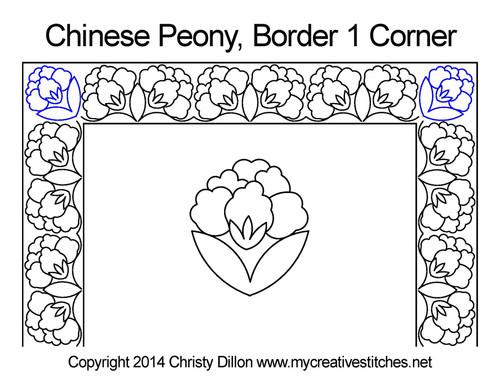 Chinese Peony Corner 1
