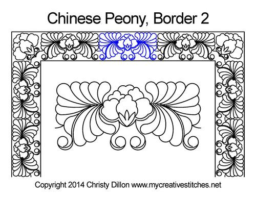 Chinese Peony Border 2