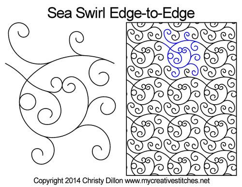 Sea Swirl Edge-to-Edge