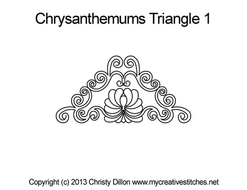 Chrysanthemums triangle quilt pattern