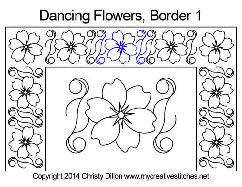 Dancing Flowers Border 1