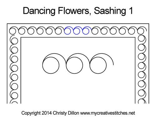 Dancing flowers sashing 1 quilt pattern