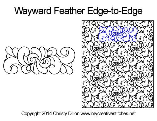 Wayward Feather Edge-to-Edge