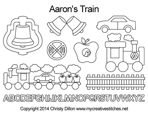 Aaron's train computerized quilting design set