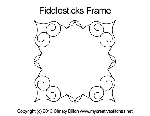Fiddlesticks frame quilt pattern