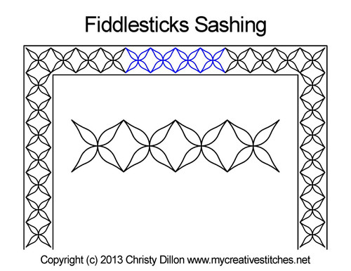 Fiddlesticks sashing quilt design
