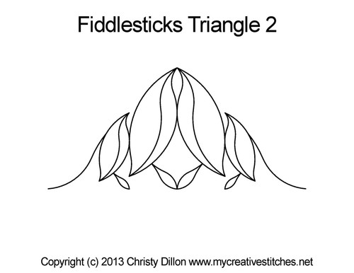 Fiddlesticks triangle 2 quilt pattern