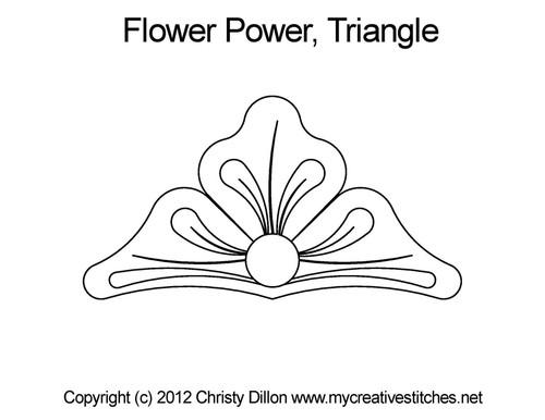 Flower power triangle quilt pattern