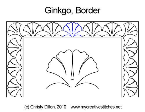 Ginkgo Leaf Border