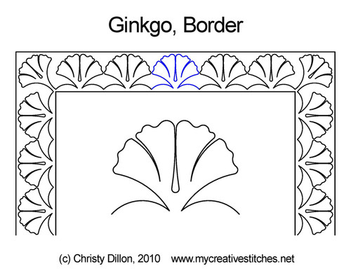 Ginkgo border quilting designs
