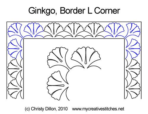 Ginkgo Corner quilting pattern