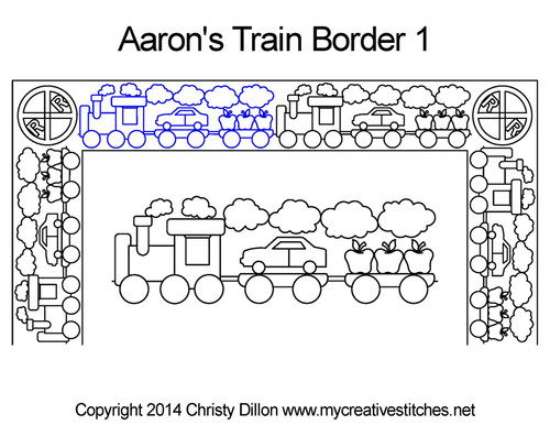 Aaron's train border 1 quilting design