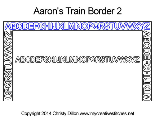 Aaron's train border 2 quilting design