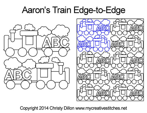 Aaron's Train edge-to-edge quilt design