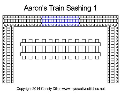 Aaron's train digital sashing 1 quilt pattern