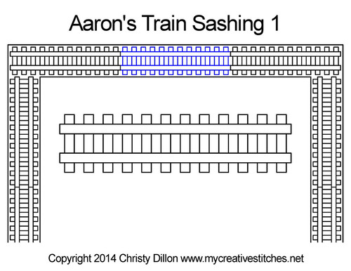 Aaron's train digital sashing 1 quilt pattern